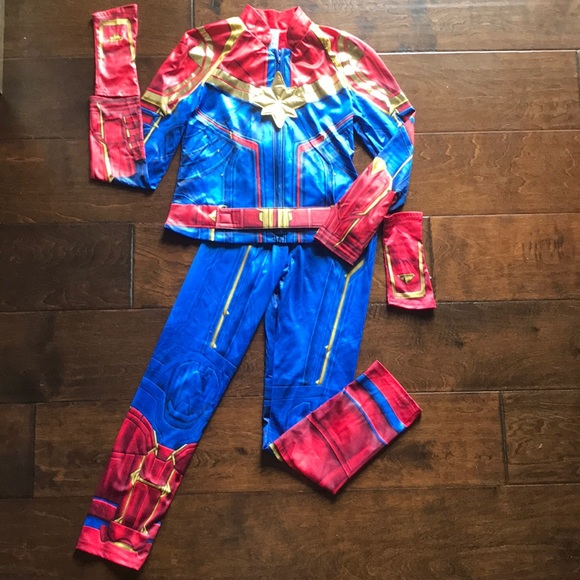 Disney Costumes Store Captain Marvel Costume 910 Poshmark Jump into action in one of the fantastic marvel costumes. poshmark
